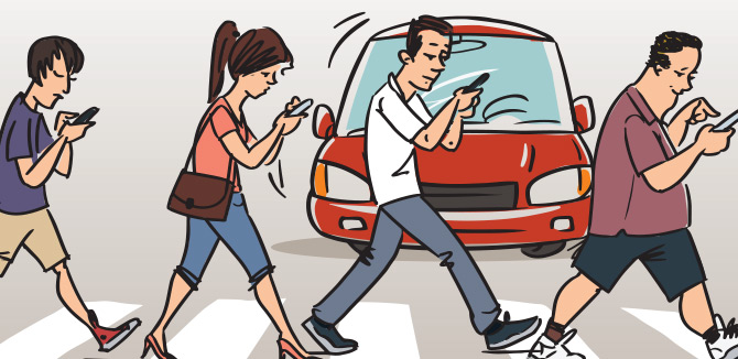 Distracted Pedestrians are On the Rise: What to Do About Them